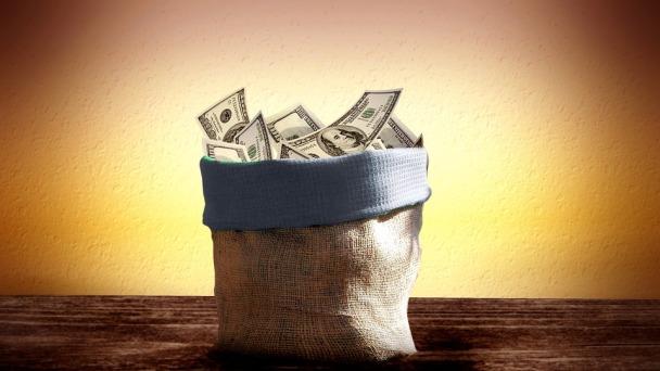 image: basket of money