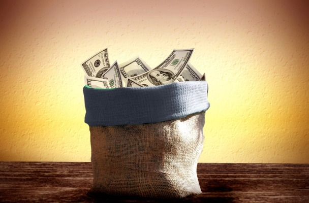 image: basket of money