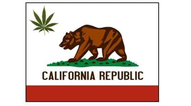 Cannabis California flag