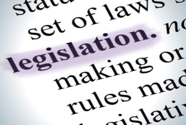 Legislation text in dictionary